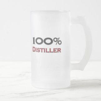 100 Percent Distiller Frosted Glass Beer Mug