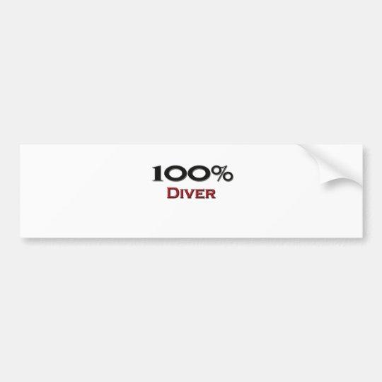 100 Percent Diver Bumper Sticker
