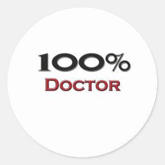 100 Percent Doctor Classic Round Sticker