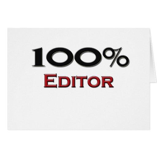 100 Percent Editor Greeting Card