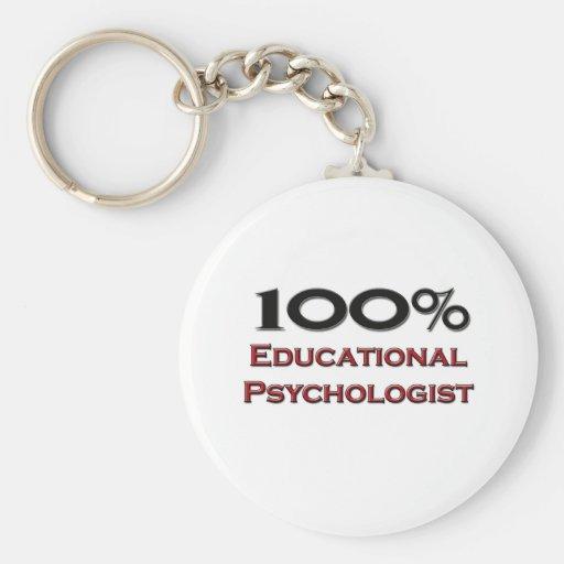 100 Percent Educational Psychologist Basic Round Button Keychain