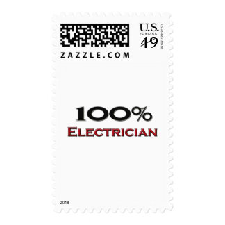 100 Percent Electrician Postage Stamps