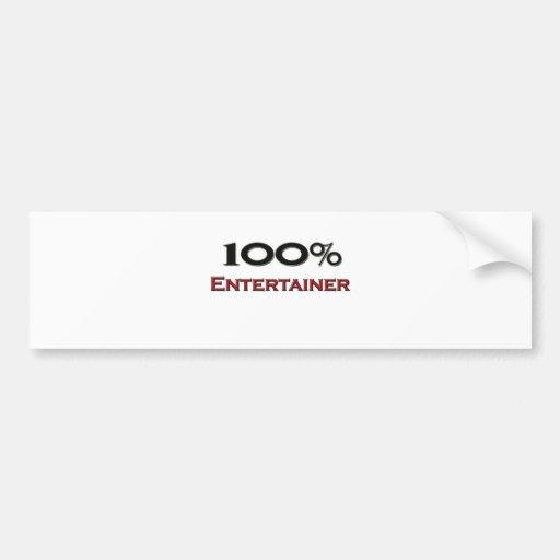 100 Percent Entertainer Bumper Sticker