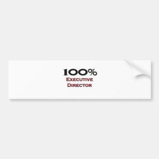 100 Percent Executive Director Car Bumper Sticker