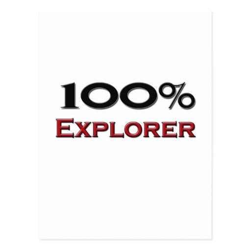 100 Percent Explorer Postcard