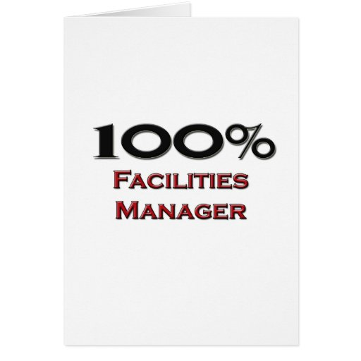 100 Percent Facilities Manager Card