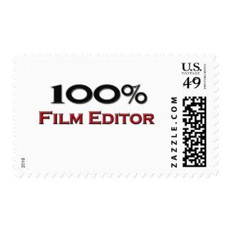 100 Percent Film Editor Stamp