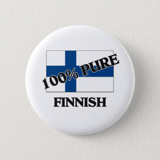 100 Percent FINNISH Pinback Button