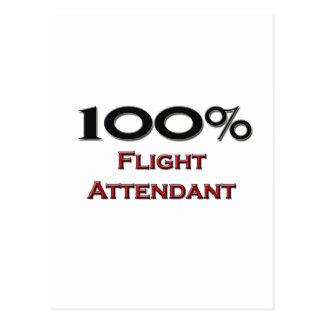 100 Percent Flight Attendant Postcard