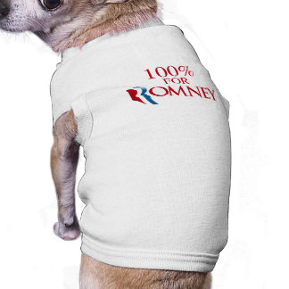 100 PERCENT FOR ROMNEY png Doggie T Shirt