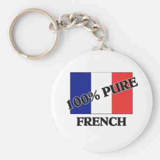 100 Percent FRENCH Keychain