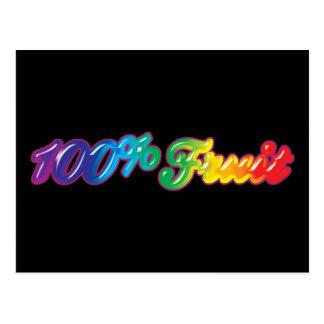 100 Percent Fruit Postcard