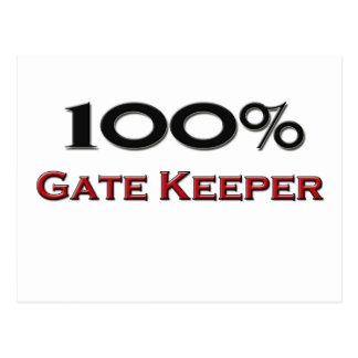 100 Percent Gate Keeper Postcard