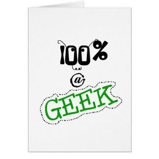 100 Percent Geek Card