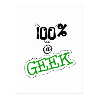 100 Percent Geek Postcard