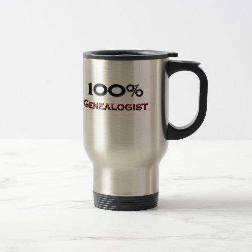 100 Percent Genealogist Coffee Mugs