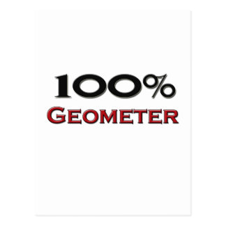 100 Percent Geometer Postcard