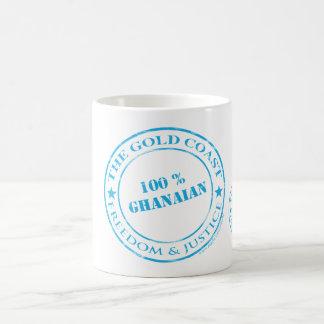 100 percent ghanaian blue coffee mug