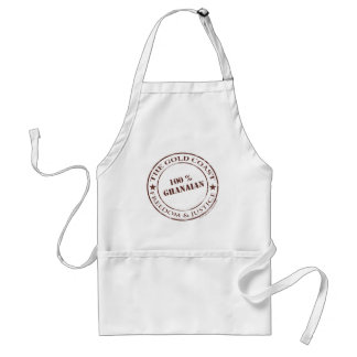 100 percent ghanaian chocolate adult apron