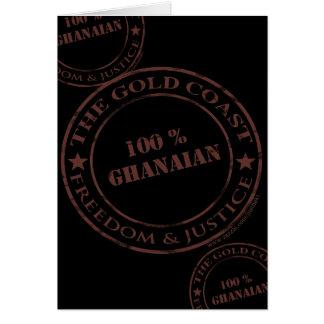 100 percent ghanaian chocolate card