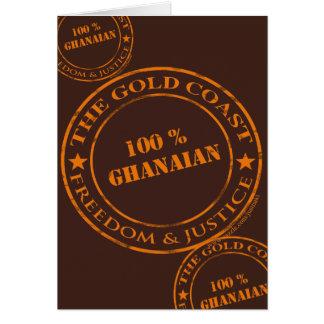 100 percent ghanaian orange card