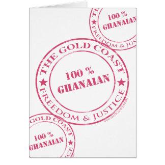 100 percent ghanaian pink card