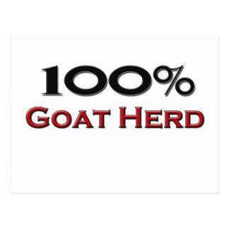 100 Percent Goat Herd Postcard