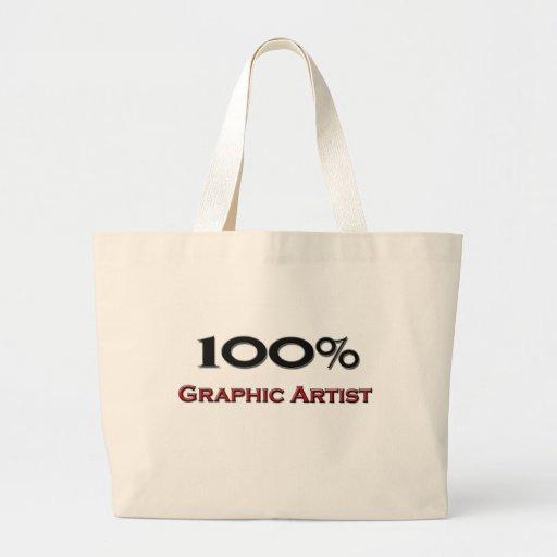 100 Percent Graphic Artist Canvas Bag