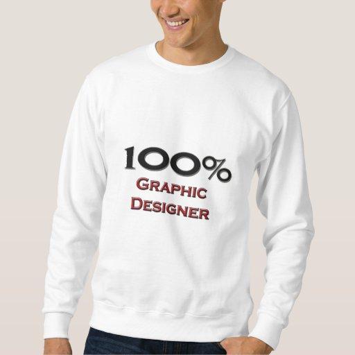 100 Percent Graphic Designer Pull Over Sweatshirt