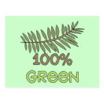 100 Percent Green Tshirts and Gifts Postcard