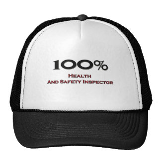 100 Percent Health And Safety Inspector Hats
