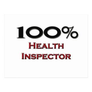 100 Percent Health Inspector Post Card
