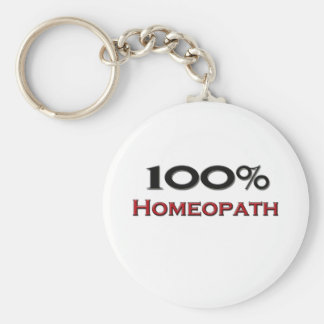 100 Percent Homeopath Keychain