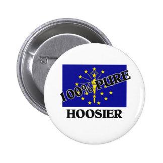 100 Percent Hoosier Button