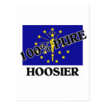 100 Percent Hoosier Postcard