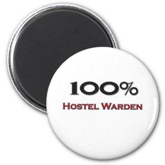100 Percent Hostel Warden 2 Inch Round Magnet