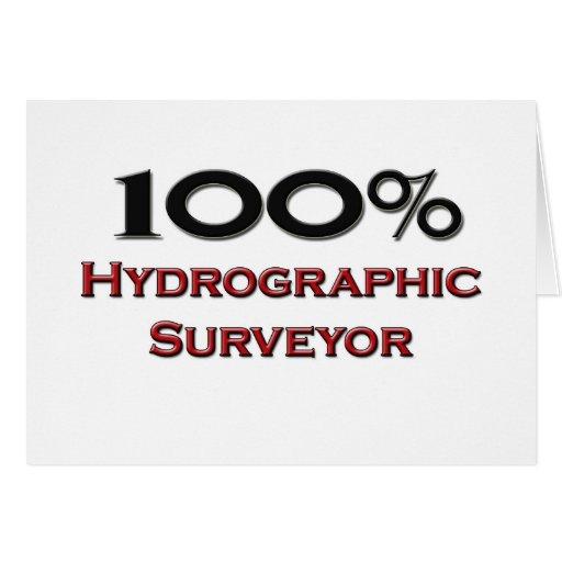 100 Percent Hydrographic Surveyor Greeting Card