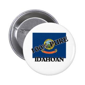 100 Percent Idahoan Pinback Buttons
