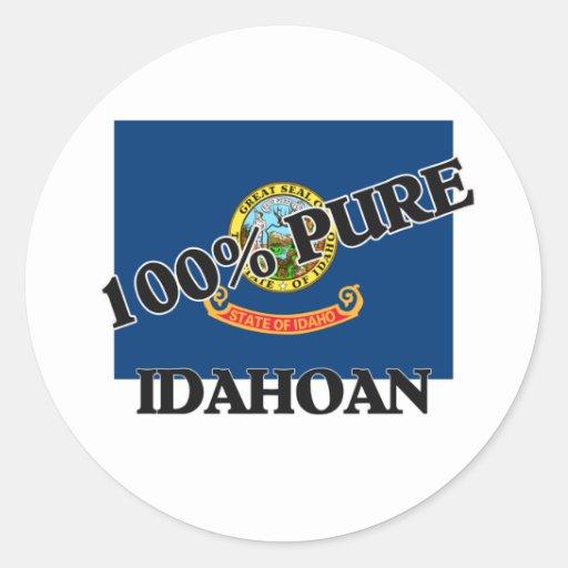 100 Percent Idahoan Stickers