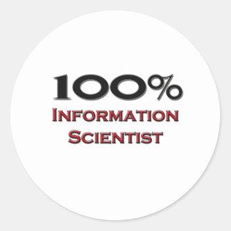 100 Percent Information Scientist Sticker