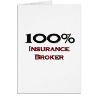 100 Percent Insurance Broker Card