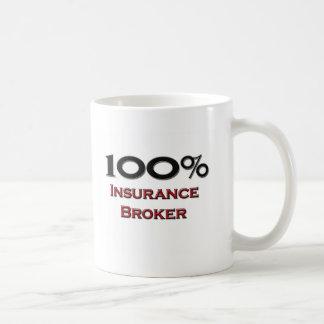 100 Percent Insurance Broker Coffee Mug