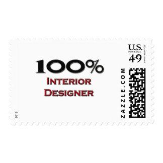 100 Percent Interior Designer Postage Stamps