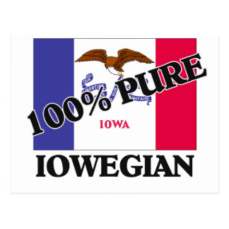 100 Percent Iowegian Post Card