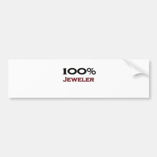 100 Percent Jeweler Bumper Sticker