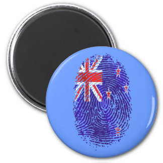 100 percent Kiwi DNA New Zealand flag fingerprint 2 Inch Round Magnet