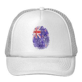 100 percent Kiwi DNA New Zealand flag fingerprint Trucker Hat