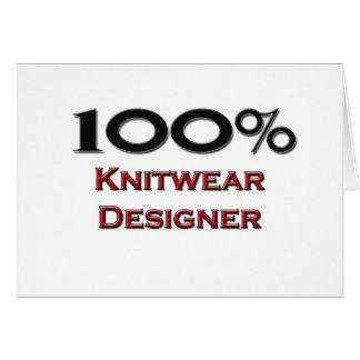 100 Percent Knitwear Designer Card