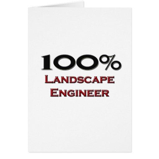 100 Percent Landscape Engineer Cards