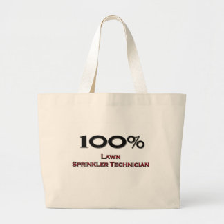 100 Percent Lawn Sprinkler Technician Tote Bags